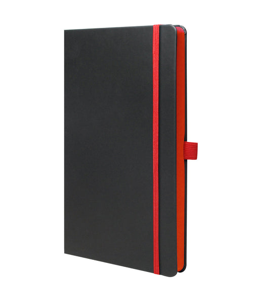 Castelli Edge Medium Ruled Notebook - Red