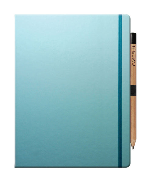 Castelli Tucson Large Ruled Notebook - Blue Curacao