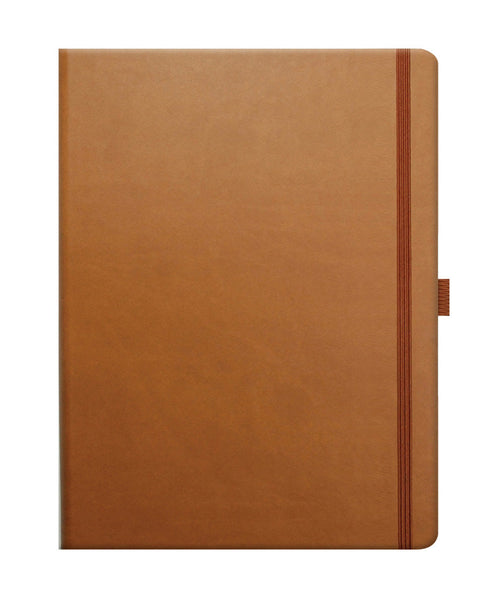 Castelli Tucson Large Ruled Notebook - Chestnut