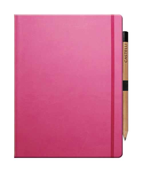 Castelli Tucson Large Ruled Notebook - Pink