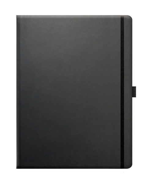 Castelli Tucson Large Ruled Notebook - True Black