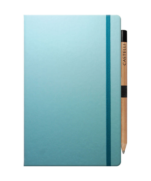 Castelli Tucson Medium Ruled Notebook - Blue Curacao