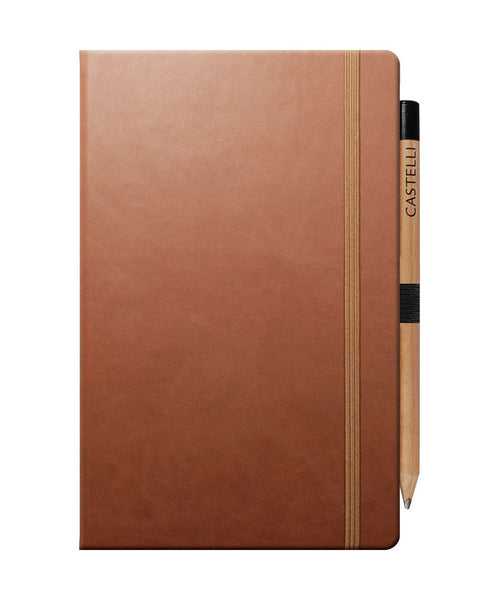 Castelli Tucson Medium Ruled Notebook - Brown