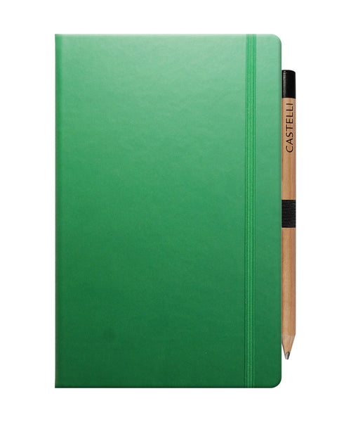 Castelli Tucson Medium Ruled Notebook - Forest Green
