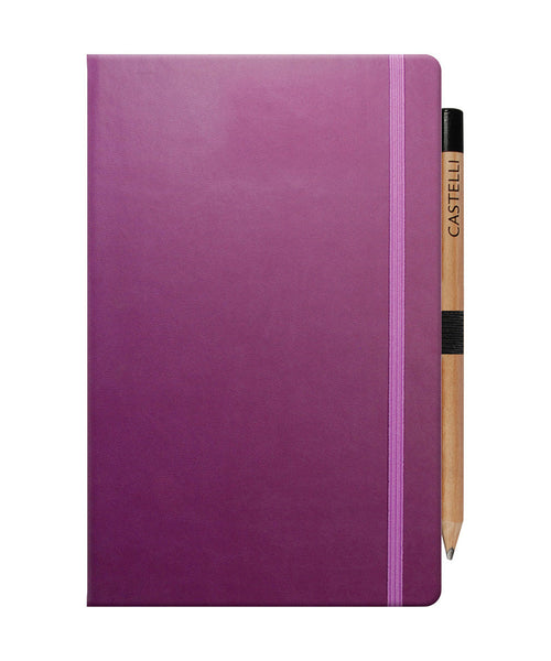 Castelli Tucson Medium Ruled Notebook - Purple