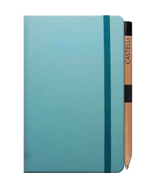 Castelli Tucson Pocket Ruled Notebook - Blue Curacao