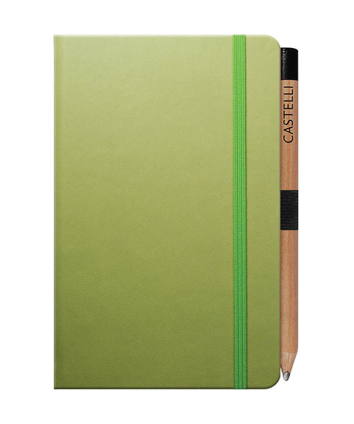 Castelli Tucson Pocket Ruled Notebook - Bright Green