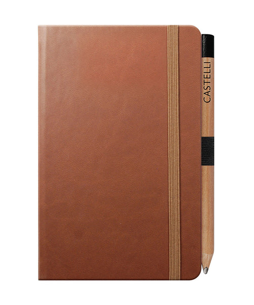 Castelli Tucson Pocket Ruled Notebook - Brown