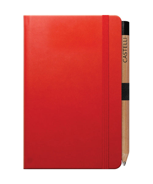 Castelli Tucson Pocket Ruled Notebook - Coral Red