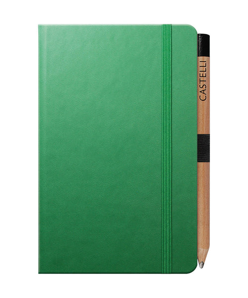 Castelli Tucson Pocket Ruled Notebook - Forest Green
