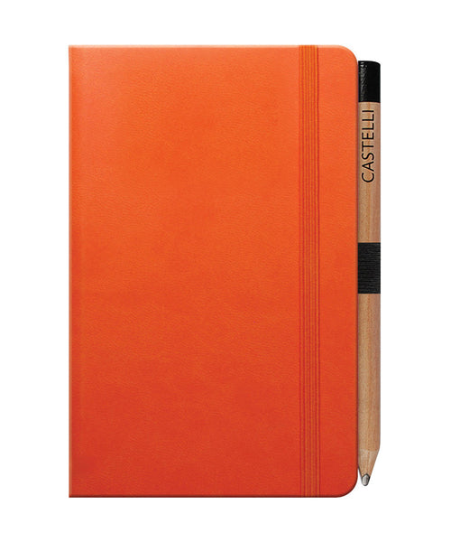 Castelli Tucson Pocket Ruled Notebook - Orange