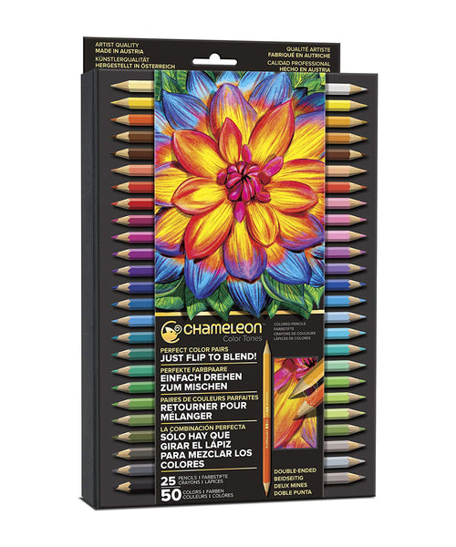 Chameleon Pencils - 25 Assorted Twin Colours