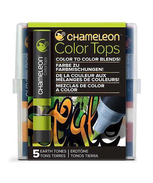 Chameleon Color Tops - 5 Assorted Earth Tones