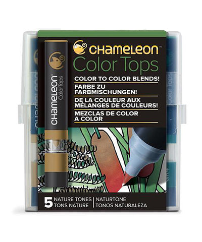Chameleon Color Tops - 5 Assorted Nature Tones