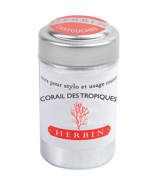 J Herbin Ink Cartridges - Corail des Tropiques (Tropical Coral)