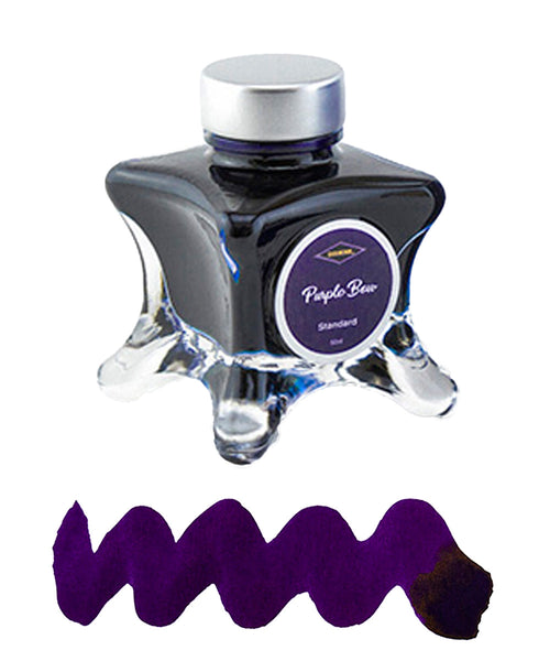 Diamine Inkvent Blue Edition Fountain Pen Ink - Purple Bow