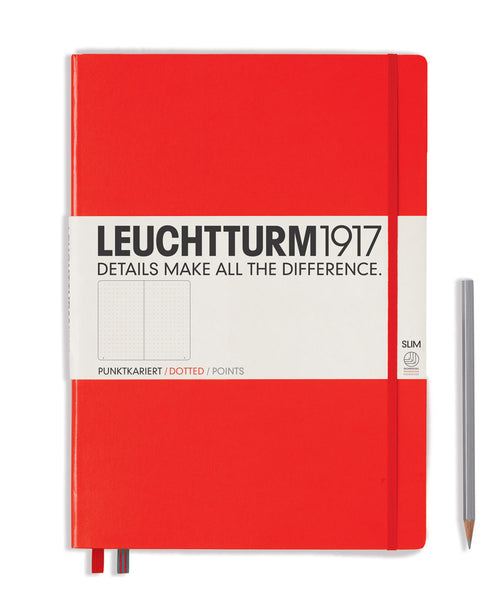 Leuchtturm1917 Master Slim (A4+) Hardcover Notebook - Red