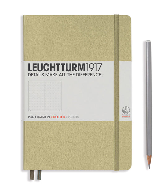 Leuchtturm1917 Medium (A5) Hardcover Notebook - Sand