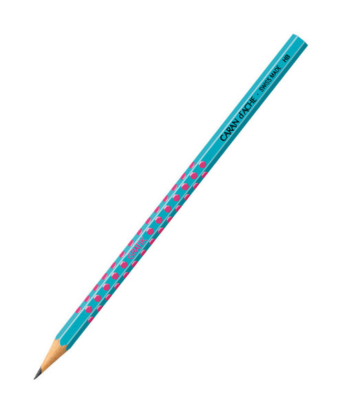 Caran d'Ache Grafik HB Pencil - Pink on Blue