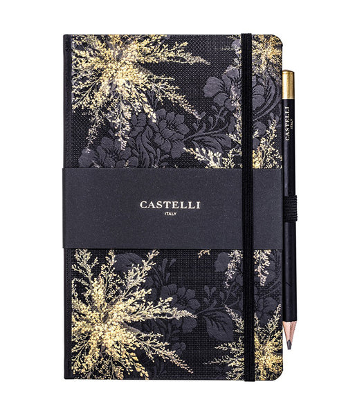 Castelli Midnight Floral Notebook - Heather