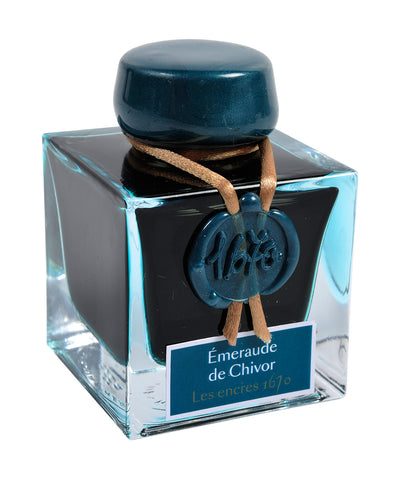 J Herbin 1670 Celebration Ink - Emerald of Chivor