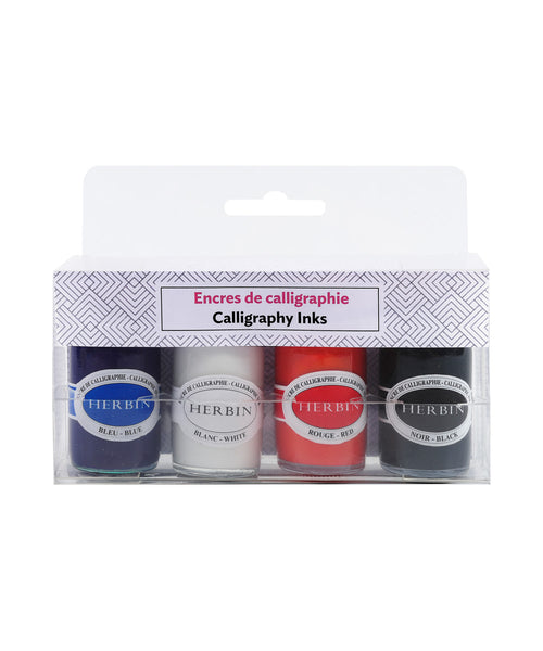 J Herbin Calligraphy Ink Set - 4 Colours