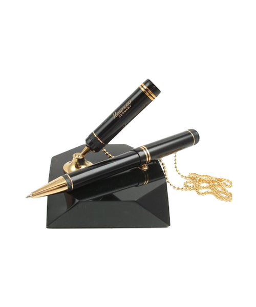 Kaweco Dia 1 Reception Ballpoint Pen & Stand - Black/Gold