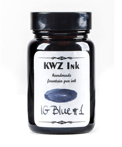 KWZ Iron Gall Fountain Pen Ink - Blue No.1