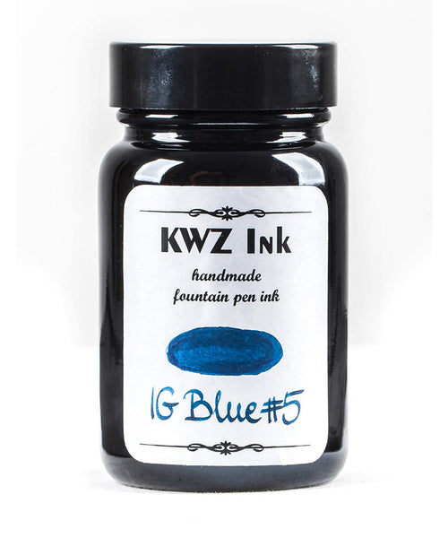 KWZ Iron Gall Fountain Pen Ink - Blue No.5