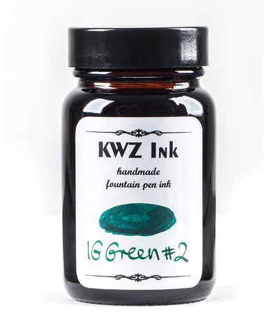 KWZ Iron Gall Fountain Pen Ink - Green No.2