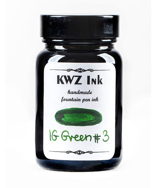 KWZ Iron Gall Fountain Pen Ink - Green No.3