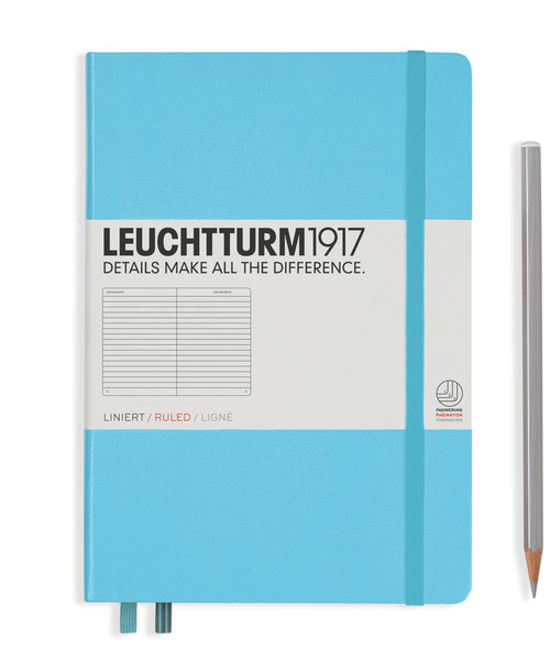 Leuchtturm1917 Medium (A5) Hardcover Notebook - Ice Blue