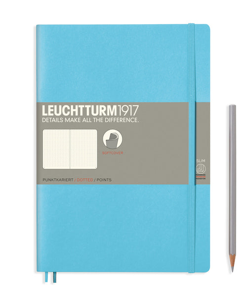 Leuchtturm1917 Composition (B5) Softcover Notebook - Ice Blue