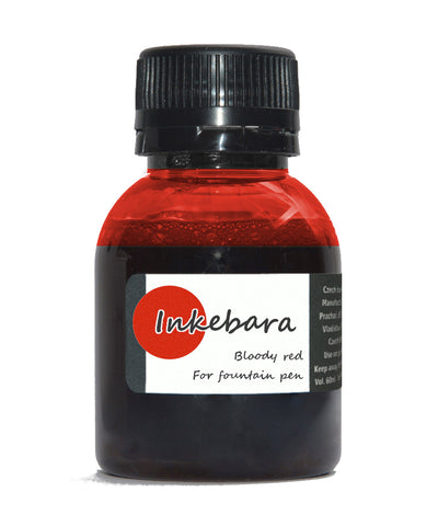 Inkebara Fountain Pen Ink - Bloody Red