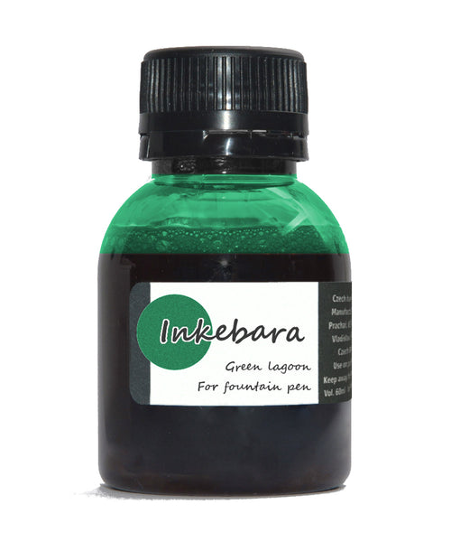 Inkebara Fountain Pen Ink - Green Lagoon