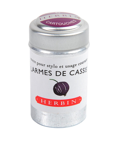 J Herbin Ink Cartridges - Larmes de Cassis (Tears of Blackcurrant)