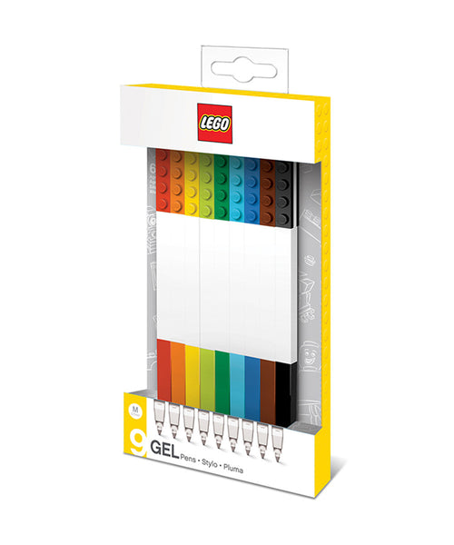 Lego Gel Pen Set - Assorted Pack of 9 Colours