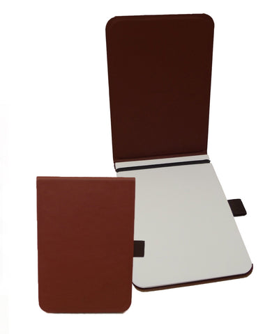 Off Lines Medium Leather Pad - Cognac
