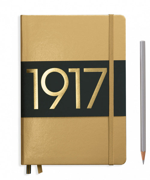 Leuchtturm1917 Medium (A5) 100 Year Anniversary Edition Hardcover Notebook - Gold