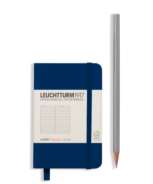 Leuchtturm1917 Mini (A7) Hardcover Notebook - Navy