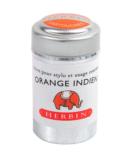 J Herbin Ink Cartridges - Orange Indien (Indian Orange)