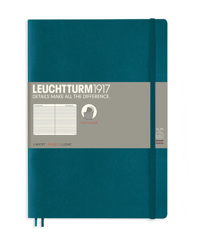 Leuchtturm1917 Composition (B5) Softcover Notebook - Pacific Green
