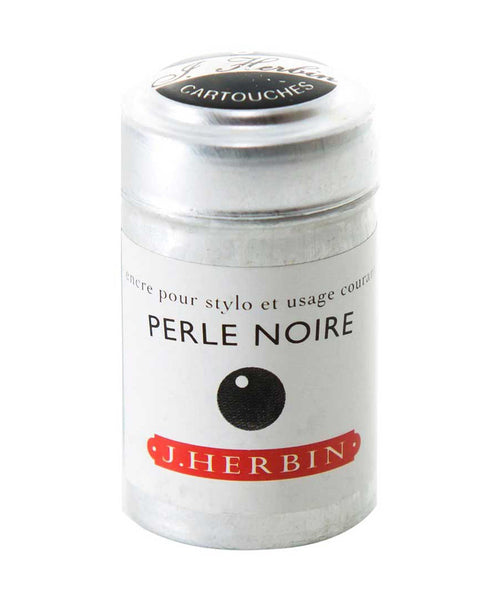 J Herbin Ink Cartridges - Perle Noire (Black Pearl)