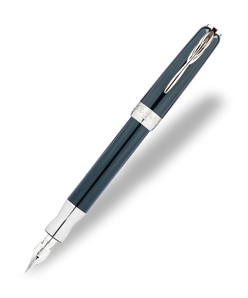 Pineider La Grande Bellezza Fountain Pen - Gemstones Hematite Gray