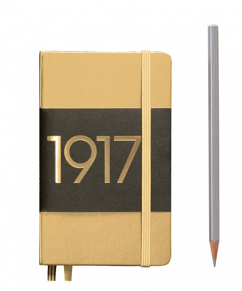 Leuchtturm1917 Pocket (A6) 100 Year Anniversary Edition Hardcover Notebook - Gold
