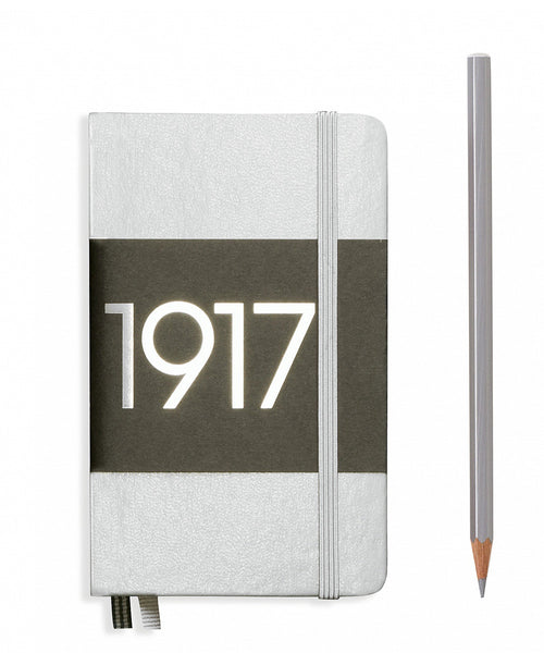 Leuchtturm1917 Pocket (A6) 100 Year Anniversary Edition Hardcover Notebook - Silver