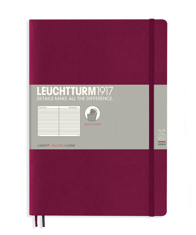 Leuchtturm1917 Composition (B5) Softcover Notebook - Port Red