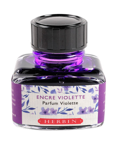 J Herbin Scented Ink (30ml) - Purple (Violet scented)
