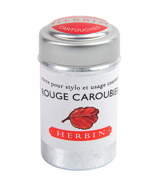J Herbin Ink Cartridges - Rouge Caroubier (Carob Seed Red)