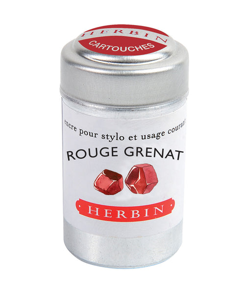 J Herbin Ink Cartridges - Rouge Grenat (Garnet Red)